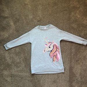 Girls Justice unicorn Tunic Size 6/7